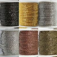 50CM Silver Golden Plated Cable Open Link Iron Metal Chain Findings 6Colors