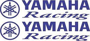 Yamaha Racing Sticker 2 x 300 x 65 Marine Grade Material