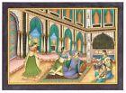 Mughal Emperor Akbar Enjoying Music And Dance Handmade Indian Miniature Painting