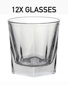Double Old Fashioned Rocks Bourbon Whiskey Scotch Glasses 12 Oz - Set of 12