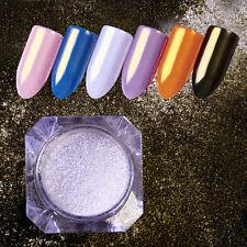Mirror Pearl Powder Silver Gold Mermaid Dust Shining Nail Art Glitter Powder DIY