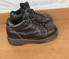DOC MARTIN KEITH  Oxford Size  7 Chunky Lace Shoe  Brown Leather Made In England