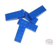 LEGO - 3-Buck Bag - 2x6 Brick - 5-Pcs - Blue - New - (Brick, Tile)