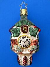 INGE GLAS BLACK FOREST CUCKOO CLOCK BIRD GERMAN BLOWN GLASS CHRISTMAS ORNAMENT