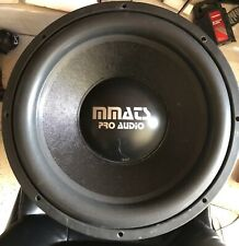 """Rebuilt Old School MMATS P3.0 Dual 2 Ohm Competition 15"""" Subwoofer,Rare,USA"""
