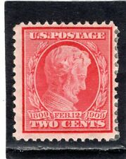 Us Scott #367 Good Mint Hinged Lincoln Centenary Issue From 1909. Sun
