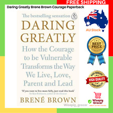 Daring Greatly Brene Brown Courage Vulnerable Paperback Book | New Free Shipping