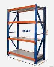 2M x 2M x 0.6M Heavy Duty Warehouse Garage Metal Steel Storage Shelving Racking