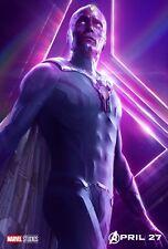 Poster A3 Vengadores Avengers Infinity War Vision Marvel Cartel Film