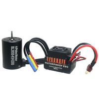 Waterproof B3650 4300KV Brushless Motor w/ 60A ESC Combo Set für 1/10 RC Auto