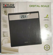 Taylor- Glass Personal Scale Black 400Lb. A5