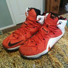 Nike LeBron 12 Xii Heart of A Lion Men's Size 10.5 Eu 44.5 Red White 684593-601
