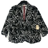 Coldwater Creek Sketched Floral Jacket NWT