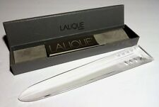 """*VINTAGE* Lalique Crystal AICHESI Letter Opener 8 3/4"""" Made in FRANCE in Box"""