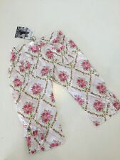 NWT New 98 3 Yr Jottum Sweet Pink Rose Doriana Ruffle Pants Capris Girls Dutch
