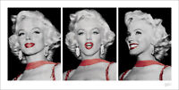Marilyn Monroe Red Dress Triptych Art Print 20 x 40 Inches Officially Licensed