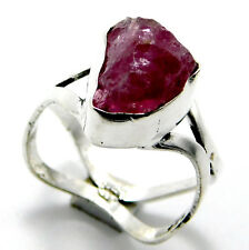 Tourmaline.925 Sterling Silver Plated Handmade Jewelry Ring (Size L-1/2)-A4232
