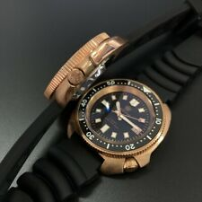 Steeldive CUSN8 Bronze Turtle 6105 NH35 200M Automatic Watch Sapphire 44mm BGW9