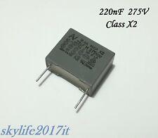10 pezzi Condensatore Poliestere 220nF 63V 10/% AVX TPC passo 5mm