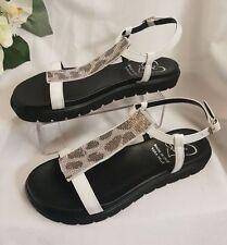 Sandalias y chanclas de mujer blanco, talla 37
