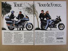 1989 Yamaha Venture Royale & FJ1200 motorcycles photo vintage print Ad