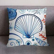 Sea Shells Beach Throw Pillow Cushion Cover Fabric Home Decor New