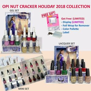 AUTHENTIC OPI Nut Cracker Collection2018 LACQUER/GEL/INFINITE SHINE/DUO/MINI SET