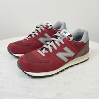 NEW BALANCE Mens Size US 10 or UK 9.5 Burgundy Classic 574 Sneaker Shoes