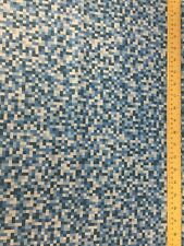 Bitmap Blue Pixel Michael Miller Fabric FQ + More 100% Cotton Craft