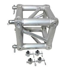Pro-X XT-JB6W-2W ProX  Square Aluminum Truss Junction Block Two Way w/ 8 half co