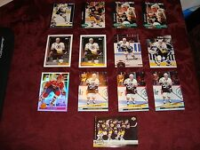 Joe Juneau 13 Hockey Card & Insert Lot Boston Bruins Rookie Card / Topps Gold