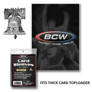 500 BCW Jersey Relic Cards Sleeve Game Worn Thick Card Sleeves Protection 5 Pack