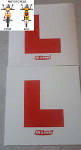 L PLATE HARD PLASTIC MOTORCYCLE LEARNER LEGAL L PLATE MOTORCYCLE SCOOTER