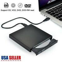 Slim External USB 2.0 DVD RW CD Writer Drive Burner Reader Player For Laptop PC