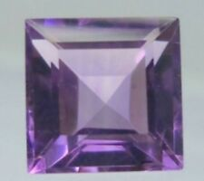 AMETHYST FLUORITE 10 MM SQUARE CUT ALL NATURAL