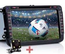 "Per VW GOLF 5 6 TIGUAN TOURAN 8"" Autoradio Nav GPS  DVD Telecamera Posteriore+"