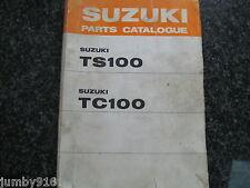 SUZUKI TS100,TC100,TS100K,TC100K,TS100L,TC100L,TS100M,TC100M 3rd Ed 1974 Parts