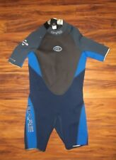 Bare 2-2 velocity mens size XL shorty wetsuit blue/gray hydro stretch