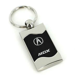 Acura MDX Black Spun Brushed Metal Key Ring