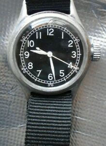 BULOVA MILITARY TYPE A-11 10AKC 16 JEWEL WITH HACK MEN'S WATCH