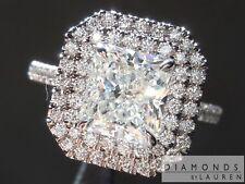 2.02ct H IF Radiant Cut Double Diamond Halo Ring R5787 Diamonds by Lauren