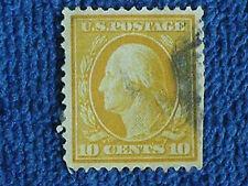 George Washington 10 Cent Stamp/1912-1914 Series/Yellow/Used-Hinged