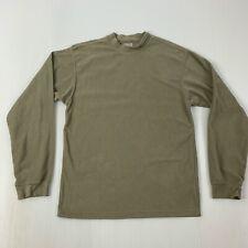 Columbia Mens Size Medium Beige Long Sleeve Fleece Pullover