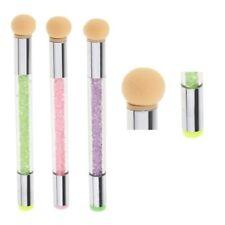 3x Nail Art 2 Way Brush Stamper Sponge Design Rhinestone Handle Blooming Pen