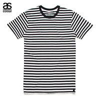 AS Colour ASColour Print Mens Blank Plain Staple Black Stripe T-Shirt Tee Cotton