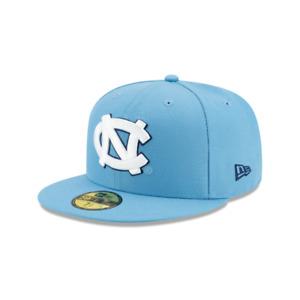 Men's New Era 59Fifty North Carolina Tar Heels Sky Blue/White Fitted (12283107)