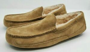 UGG Australia Ascot 5775 Chestnut Suede Slippers Loafers Moccasins Mens sz 14