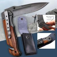 Utility Pocket Knife Sharpener Folding Tactical Survival Hunting Set