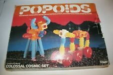 Popoids Colossal Cosmic Set Tomy 1983 Plastic Bendable Construction toy