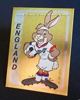 "RARE !! FOIL Sticker n°91 BERNI ENGLAND ""EURO 92"" Panini 1992"